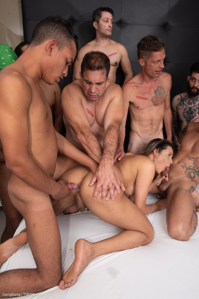 Preview TS Raw - Belatriz Endless Cock Gangbang 4K